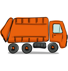 Recycle truck icon hand drawn vector