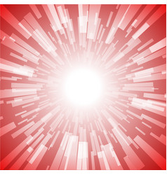 red burst ray light stripe vector image