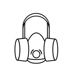 Respirator icon outline style vector