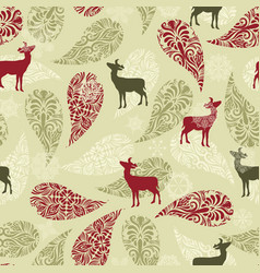 Retro Christmas Pattern Background vector image vector image