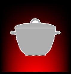 saucepan simple vector image