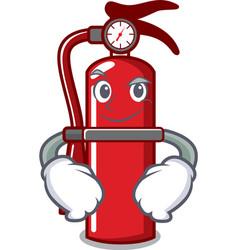 Smirking fire extinguisher character cartoon vector