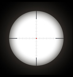 Sniper scope with red dot vector