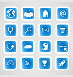 Social color Media Circles Icon Network vector image