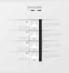 Timeline report design template black and white vector