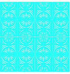 white monograms on a blue background vector image