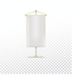 White pennant or flag vector image