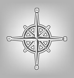 wind rose sign pencil sketch imitation vector image
