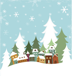 Winter Village vector