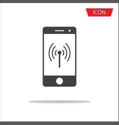 wireless icon mobile phone wireless symbol vector image