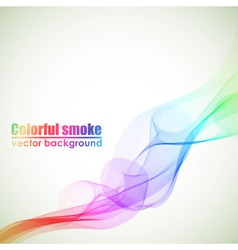 Abstract colorful smoke background with copy space vector image vector image