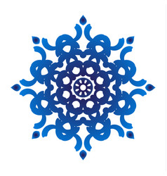 blue floral ornamental vector image vector image