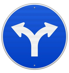 Blue Sign with two Arrows vector image
