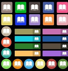 Book icon sign Set from twenty seven multicolored vector image vector image