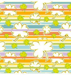 Clover And Rainbow Seamless Pattern vector image vector image