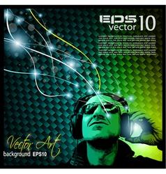 disco music flyer vector image vector image
