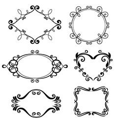 floral pattern border vector image vector image