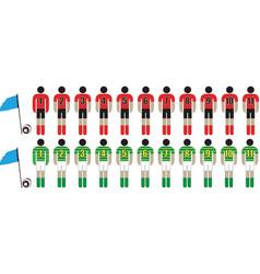 footballer teams vector image