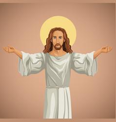 jesus christ religious praying image vector image
