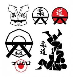judo design elements vector image vector image