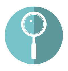 search loupe school shadow vector image