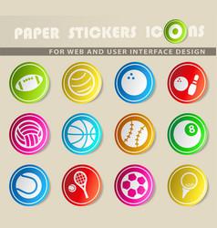 Sport balls icons vector