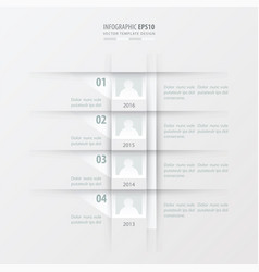 timeline report design template white color vector image vector image