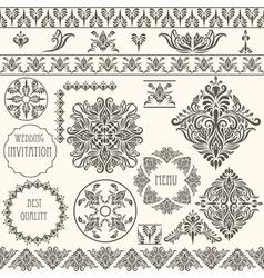 vintage design elements retro vector image vector image