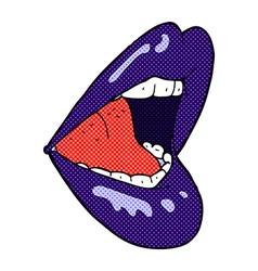 comic cartoon open mouth vector image