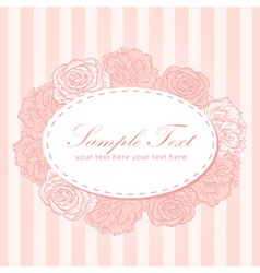 Flower stripe invitation love card vector image vector image