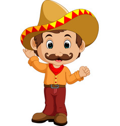 mexican cartoon character vector image