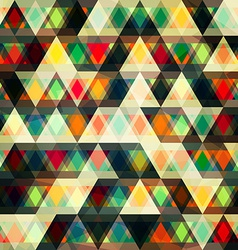 mosaic triangles seamless pattern vector image vector image