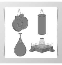Set of Boxing Elements vector image vector image