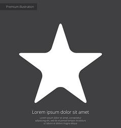 star premium icon white on dark background vector image