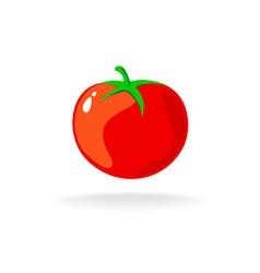 Tomato isolated single simple cartoon vector image vector image