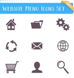Website menu icons vector image vector image