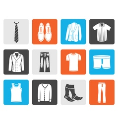 Black man fashion and clothes icons vector image vector image