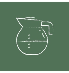 Carafe icon drawn in chalk vector image