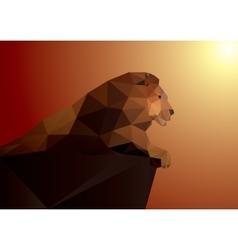 Lion polygonal geometric pattern design vector image vector image