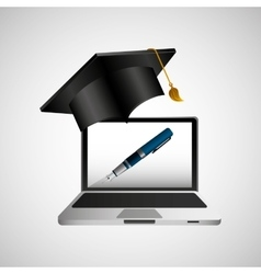 online education concept writing pen design vector image