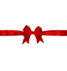 Shiny red satin ribbon EPS 10 vector image