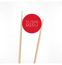 Sushi menu cover template vector image