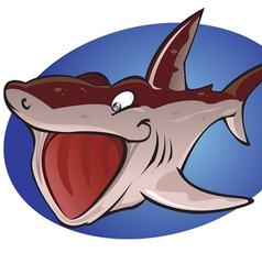 Cartoon Basking Shark vector image vector image