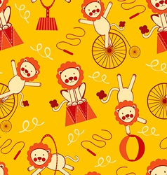 Circus lions pattern vector image