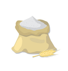 flour sack and wheat ear vector image
