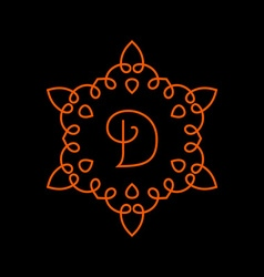 Monogram template logo design Line style vector image