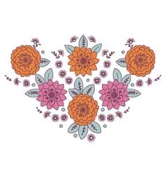 Neckline Woman Floral vector image