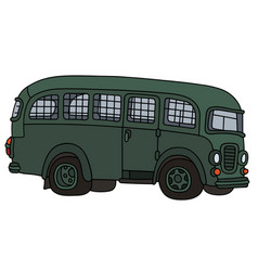 old prison bus vector image