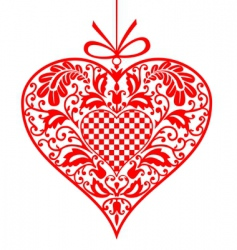 valentine ornamental heart vector image vector image