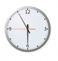 vector clock on a wall vector image
